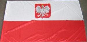 Flagi Polski z godłem